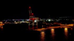 Sparato della nave da crociera che lascia a showa Giappone molo del sud del sakaiminato video d archivio