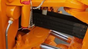 Sparato della parte hidraulic del ` s del trattore archivi video