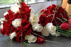 Sparato di bello fiore o mazzo di nozze fotografia stock