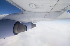 Sparato di un'ala del Boeing a girare Fotografia Stock