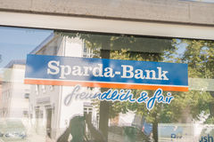 Sparda Bank slogan Royalty Free Stock Photo
