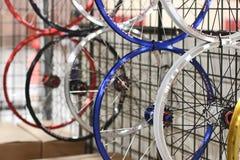 Spare bike wheels Royalty Free Stock Photo