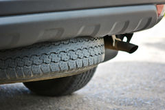 Spare car tyre Stock Photos