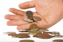 Spare change - pounds Royalty Free Stock Photography