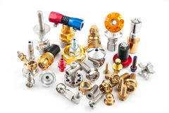 Spare part of motorcycle for decorating and maintenance Stock Images