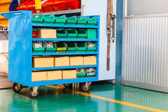 Spare part and tools cart Royalty Free Stock Photos