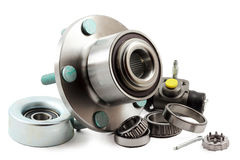 Spare parts for car Royalty Free Stock Image