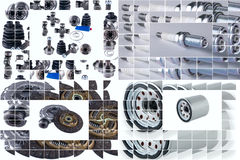 Spare parts car shop auto aftermarket Royalty Free Stock Photo