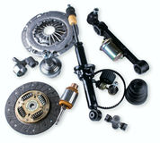 Spare parts car shop auto aftermarket Royalty Free Stock Photos