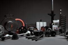 Spare parts for cars Stock Images