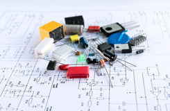 Spare parts of electronic devices. Stock Image