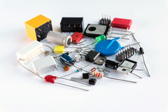 Spare parts of electronic devices. royalty free stock photos