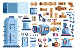 Spare Parts For Steampunk Industrial Machines Stock Images