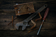 Spare parts and instruments Royalty Free Stock Photos