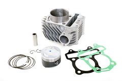 Spare parts for motorbike engine Stock Photos