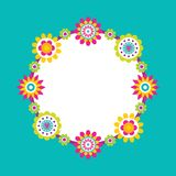 Spare Place for Text Frame Abstract Flower Blossom royalty free illustration