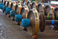 Spare Railway Wheels Royalty Free Stock Image