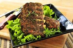 Spare rib dinner Stock Image