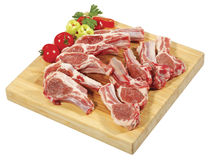 Spare Rib Roast/Spare Rib Joint/Blade Shoulder/Shoulder Butt were thinly sliced and placed on wooden cutting board Royalty Free Stock Photos