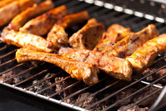 Spare ribs on barbecue Royalty Free Stock Image