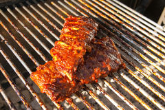 Spare Ribs on the grill Stock Photos