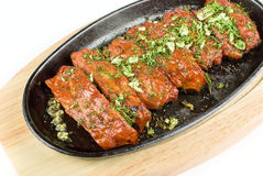 Spare ribs roasted Stock Photos