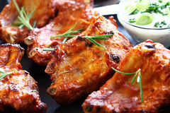 Spare Ribs With Sour Cream Royalty Free Stock Image
