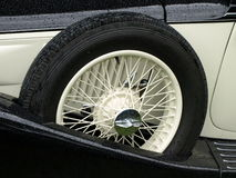 Spare wheel. Of a classic car Royalty Free Stock Image