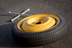 Spare wheel of a car Royalty Free Stock Photos
