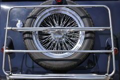 Spare wheel of a classic car Stock Image