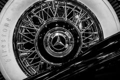 Spare wheel of Mercedes-Benz 770K W150, 1931. Royalty Free Stock Photography