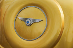 Spare wheel. From an old retro car located behind baggage compartment Royalty Free Stock Photography