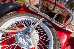 Spare wheel of retro car Royalty Free Stock Image