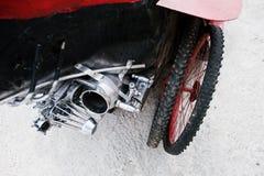 Spare wheels at handmade sport car Royalty Free Stock Photos