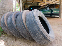 Spare wheels, spare tires Stock Image
