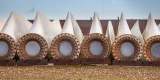 Spare wind turbine blades Royalty Free Stock Photos