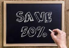 Sparen 50% royalty-vrije stock foto's