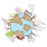 Sparen Aardeconcept voor Aardedag Stock Afbeelding