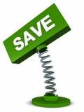 Sparen banner vector illustratie