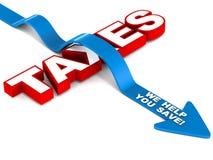 Sparen belasting stock illustratie