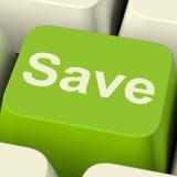 Sparen Computersleutel als Symbool voor Kortingen of Bevordering stock foto's