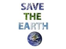 Sparen de aarde Royalty-vrije Stock Foto