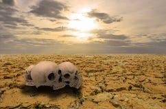 Sparen de aarde van drough vóór de dood komt Stock Afbeelding