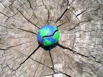 Sparen de Aarde van een breakdow stock fotografie