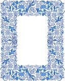 Sparen de datum bloemenkaart Grenskader Royalty-vrije Stock Afbeeldingen
