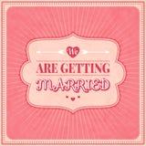 Sparen de Datum, de Kaart van de Huwelijksuitnodiging Stock Foto