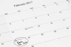 Sparen de datum op de kalender wordt geschreven - 28 Februari dat, Stock Afbeeldingen