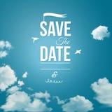 Sparen de datum voor persoonlijke vakantie stock illustratie