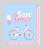 Sparen de datumkaart Stock Afbeelding