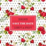Sparen de de Uitnodiging of de Gelukwenskaart van het Datumhuwelijk vector illustratie